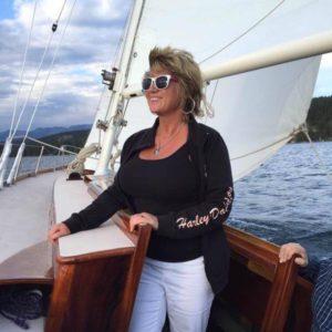 Lacie Angel, LMT Sailing Flathead Lake Montana